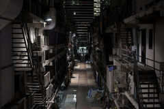Bangkok Night. Street in the Center of City Stock Photography