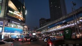 Bangkok night stock footage
