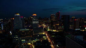 Bangkok in the night. Time lapse stock footage