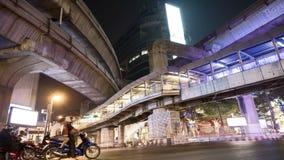 Bangkok at night timelapse, Transportation. Thailand stock video footage