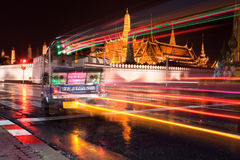 Bangkok Night Traffic Stock Image