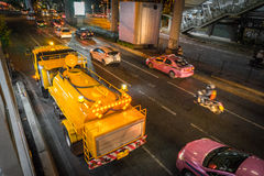 Bangkok Night Traffic Stock Photo