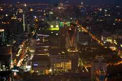 Bangkok night view Stock Photos