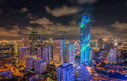 Bangkok night view Mahanakhon is the new highest building in Ban Royalty Free Stock Photography