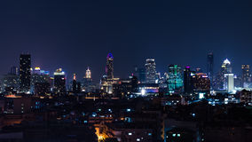 Bangkok nightlife - city light of Bangkok. The light of Bangkok city in the night Stock Images