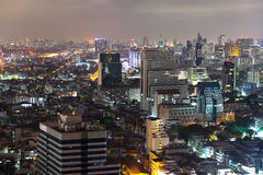Bangkok nightscape royalty-vrije stock foto's