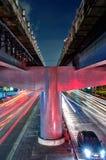 bangkok noc ruch drogowy fotografia stock