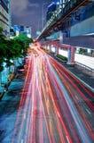 bangkok noc ruch drogowy zdjęcia royalty free
