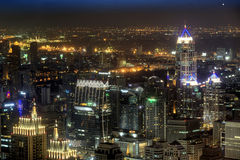 bangkok noc Thailand widok Obrazy Stock
