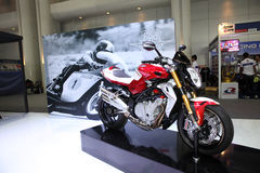 BANGKOK - November 28: Agusta Corsa motorcycle on display at The Royalty Free Stock Photo