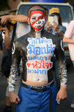 BANGKOK - NOVEMBER 11, 2013 : Anti-government protesters at the Stock Image