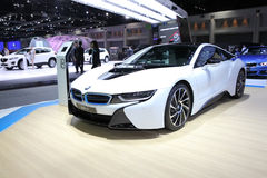 BANGKOK - November 28:  BMW i8  car on display at The Motor Expo Royalty Free Stock Photos