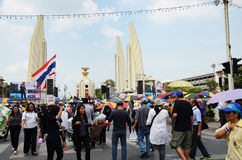 BANGKOK - NOVEMBER 11 : The Democrats are on the march at Democr Stock Photo