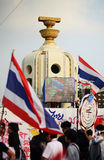 BANGKOK - NOVEMBER 11 : The Democrats are on the march at Democr Royalty Free Stock Images