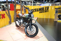 BANGKOK - November 28: Ducati Scrambler X  motorcycle on display Royalty Free Stock Photo