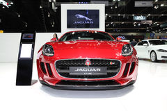 BANGKOK - November 28: Jaguar F-Type car on display at The Motor Royalty Free Stock Photo