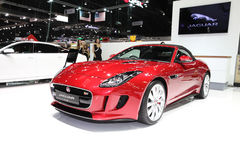 BANGKOK - November 28: Jaguar F-Type car on display at The Motor Royalty Free Stock Images