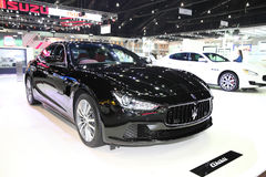 BANGKOK - November 28: Maserati GHIBLI car on display at The Mot Royalty Free Stock Photo
