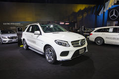 BANGKOK - November 30: Mercedes-benz GLE 500 e car on display at Stock Image