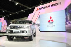 BANGKOK - November 28: Mitsubishi All Ner Triton car on display at The Motor Expo 2014 on November 28, 2014 in Bangkok, Thailand. Stock Photos