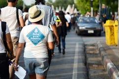 BANGKOK - NOVEMBER 11, 2013: Protesten mot amnestibien Arkivbilder