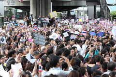 BANGKOK - November 7: A protester joins an anti-government rally Royalty Free Stock Photo