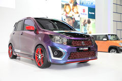 BANGKOK - November 28: Suzuki Celerio Custom car on display at T Royalty Free Stock Photos