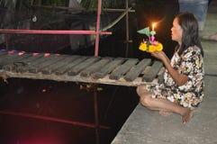 BANGKOK - NOVEMBRE 2011: Festival di Loy Kratong Fotografia Stock