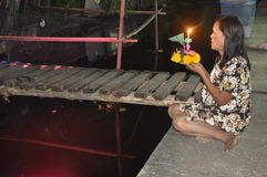 BANGKOK - NOVIEMBRE DE 2011: Festival de Loy Kratong Foto de archivo