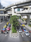 Bangkok traffic siam sqaure mrt thailand Stock Photography