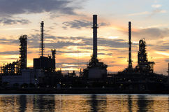 Bangkok Oil Refinery in Morning time Royalty Free Stock Photos