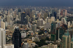 BANGKOK - OKTOBER 2014 Bangkok horisont, Arkivbild