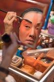 BANGKOK - OKTOBER 16: En kinesisk maskering för operaaktrismålning på H Arkivfoto