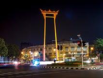 BANGKOK - OKTOBER 18 jätte- gunga i bangkok Thailand som är offentligt, editoria Royaltyfria Foton
