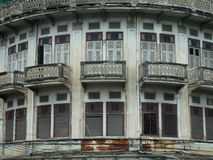 Bangkok Old Thai Building. An old Thai Building on the way to Buddha Alley Stock Images