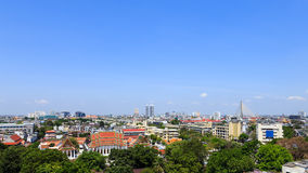 Bangkok old town panorama Stock Images
