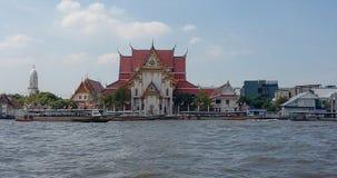 bangkok Op de schepen van het rivierzeil met toeristen aan boord Stock Afbeeldingen