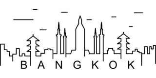 Bangkok outline icon. Can be used for web, logo, mobile app, UI, UX vector illustration