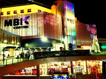 Bangkok på natt i Thailand royaltyfria foton