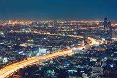 Bangkok på natten arkivbild