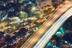 Bangkok på natten royaltyfri bild