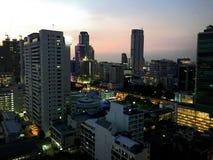 Bangkok på solnedgången Royaltyfria Foton