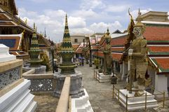 Bangkok Palace 4. The Grand Palace complex in Bangkok,Thailand Royalty Free Stock Images