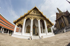 Bangkok palace. Bangkok in winter 2014 fish eye Royalty Free Stock Image