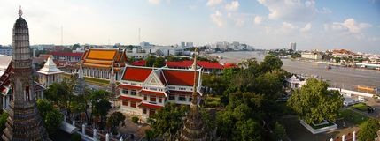 Bangkok-Panorama Stockfoto