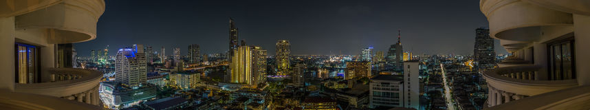 Bangkok panorama Royaltyfria Foton