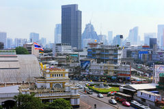 Bangkok panorama and central rail station, Thailand Stock Photography
