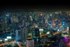 Bangkok, panorama of the city at night Royalty Free Stock Image