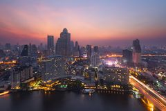 Bangkok-Panorama, Thailand Stockfotos