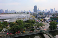 Bangkok-Panorama, Thailand Stockfotografie